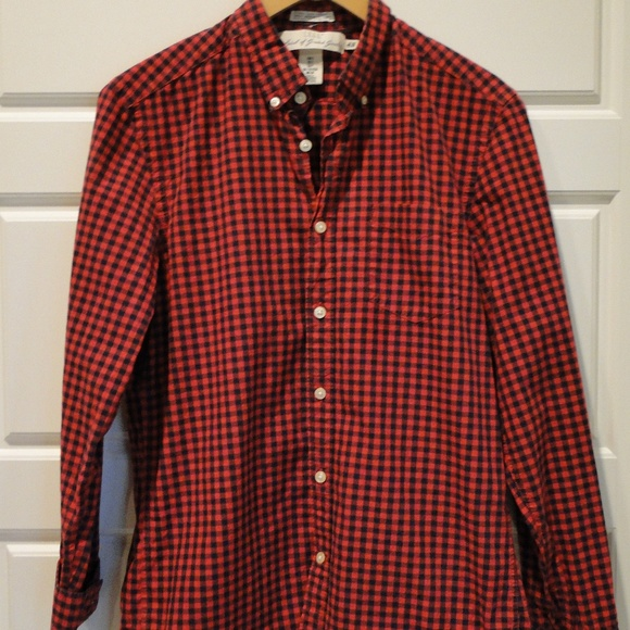 2ee7e6fb H&M Shirts | Logg Hm Mens Buffalo Check Red Black Shirt Small | Poshmark